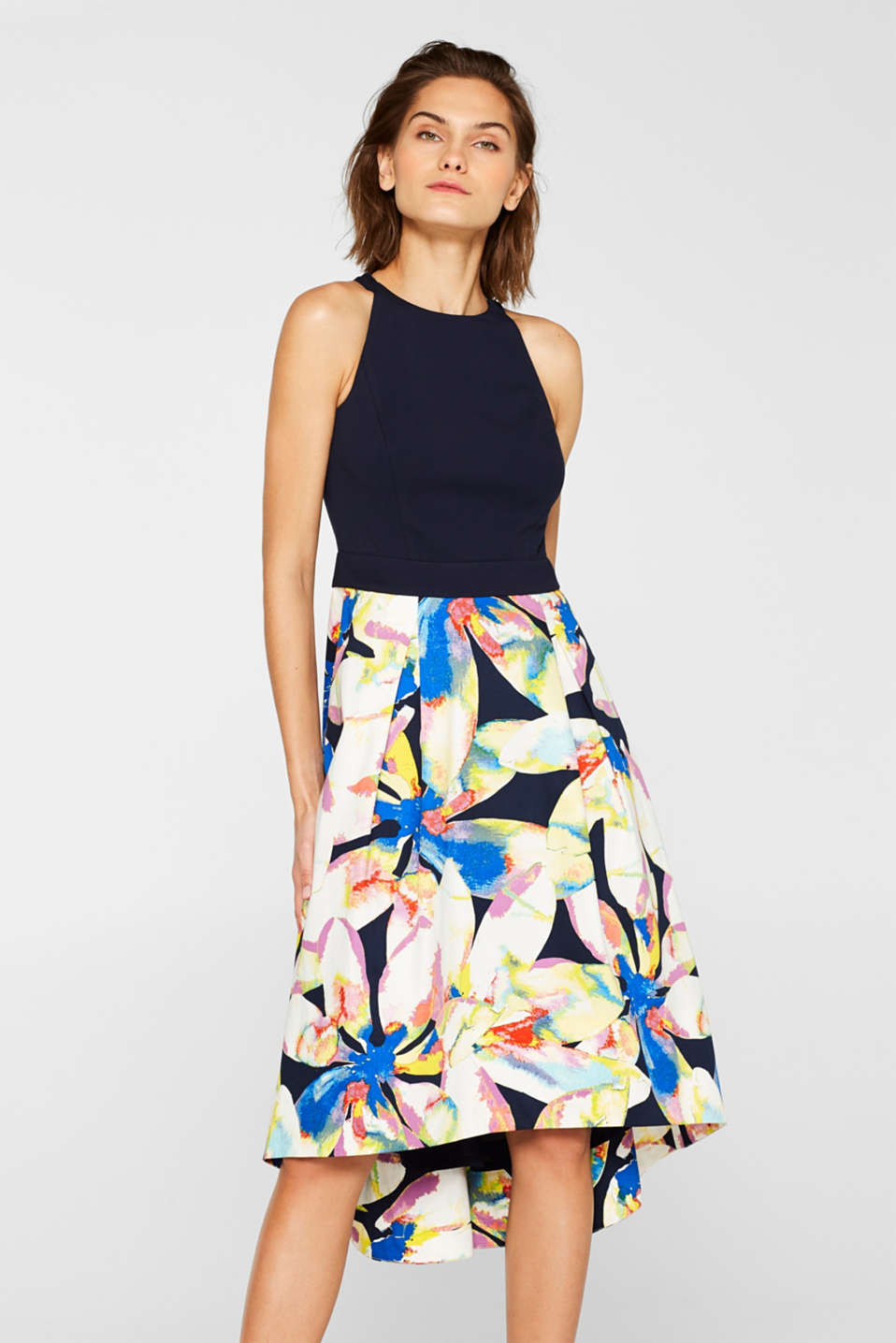 Esprit - Cocktail dress with a jersey top and a satin skirt