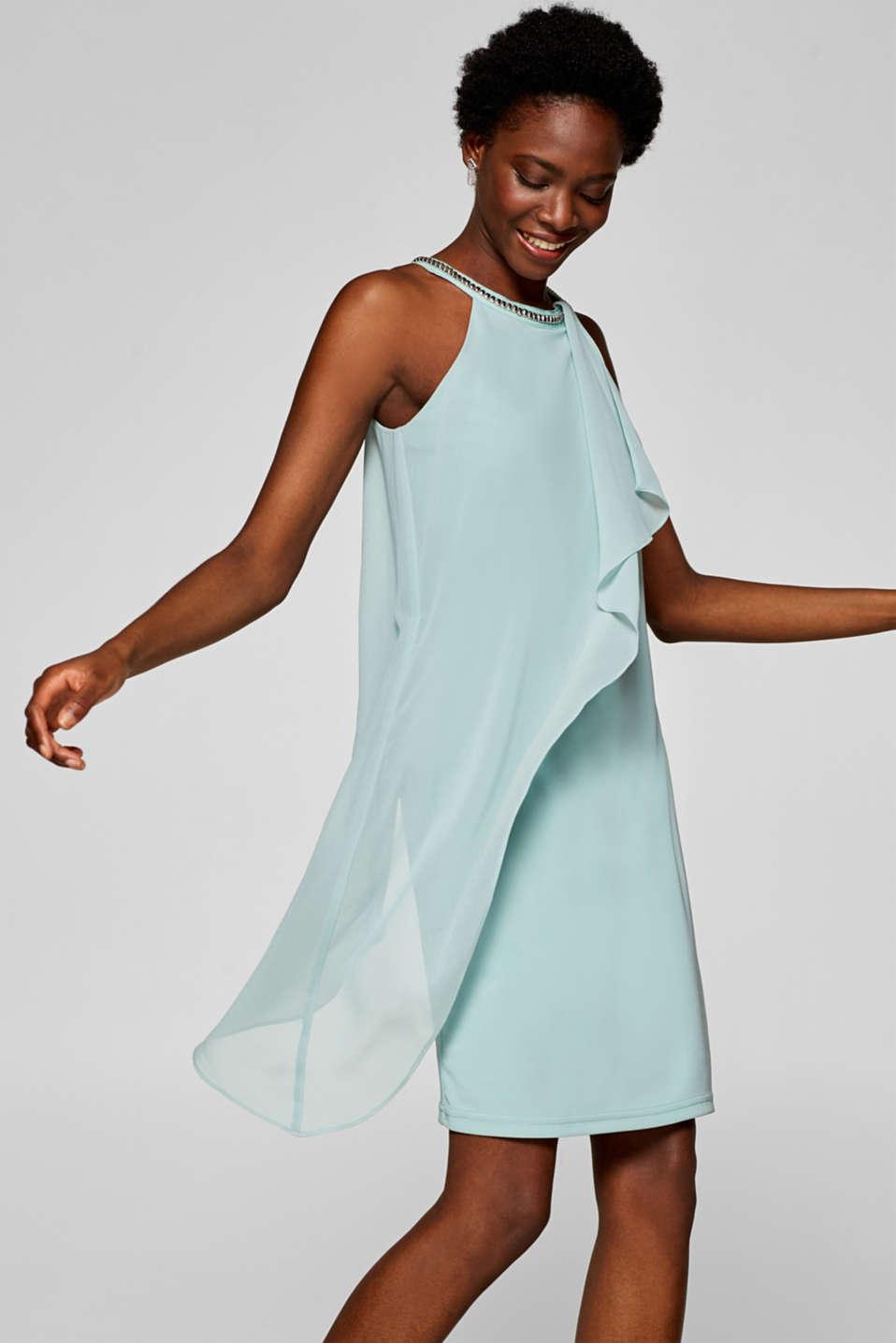 7567866c Esprit - Sukienka z efektem warstwowym i ozdobnymi nitami w naszym ...