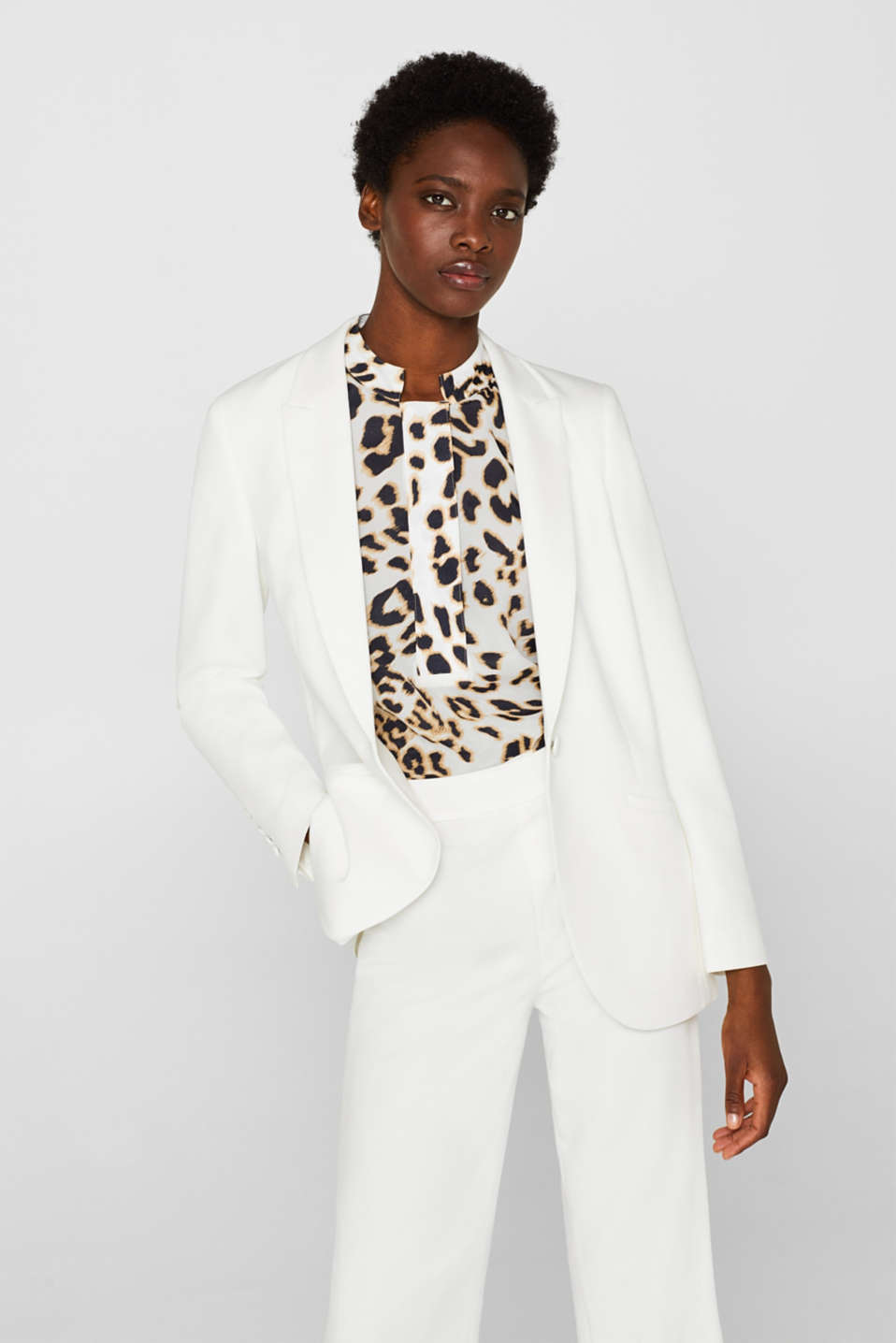 Esprit - SOFT CRÊPE Mix + Match stretch blazer