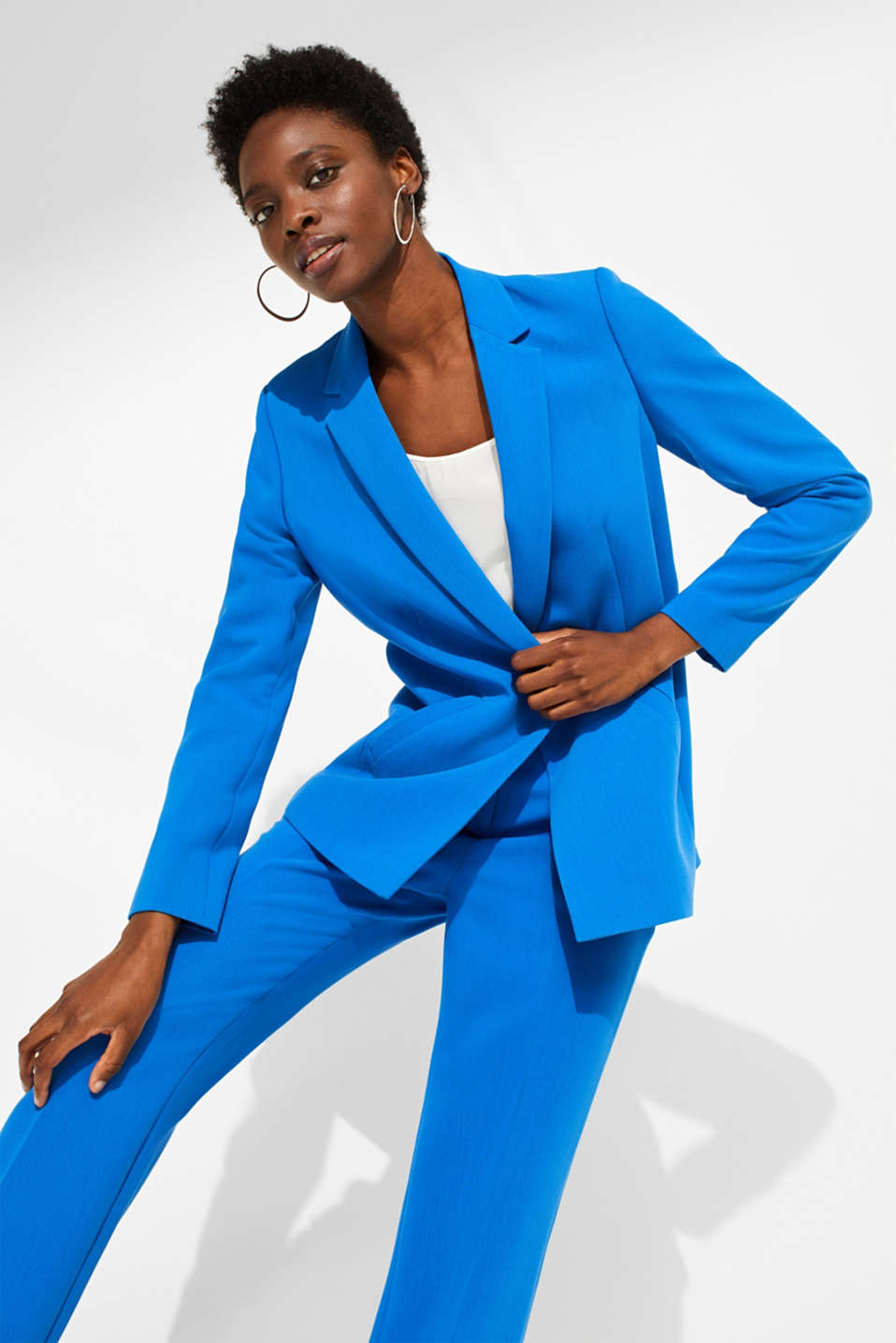 Esprit - SOFT TEXTURE Mix + Match stretch blazer
