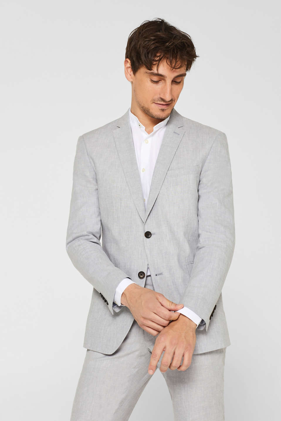 Esprit - SUMMER LINEN mix + match: linen blend tailored jacket