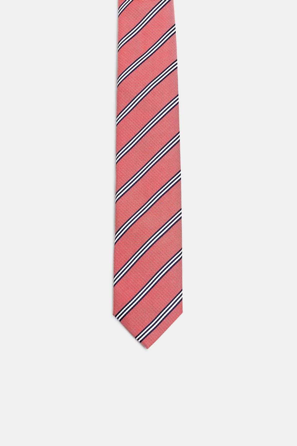 Esprit - Tie with a striped pattern