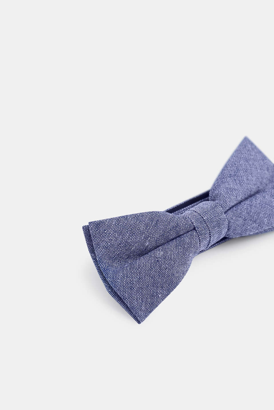Chambray bow tie, 100% cotton, BLUE, detail image number 2