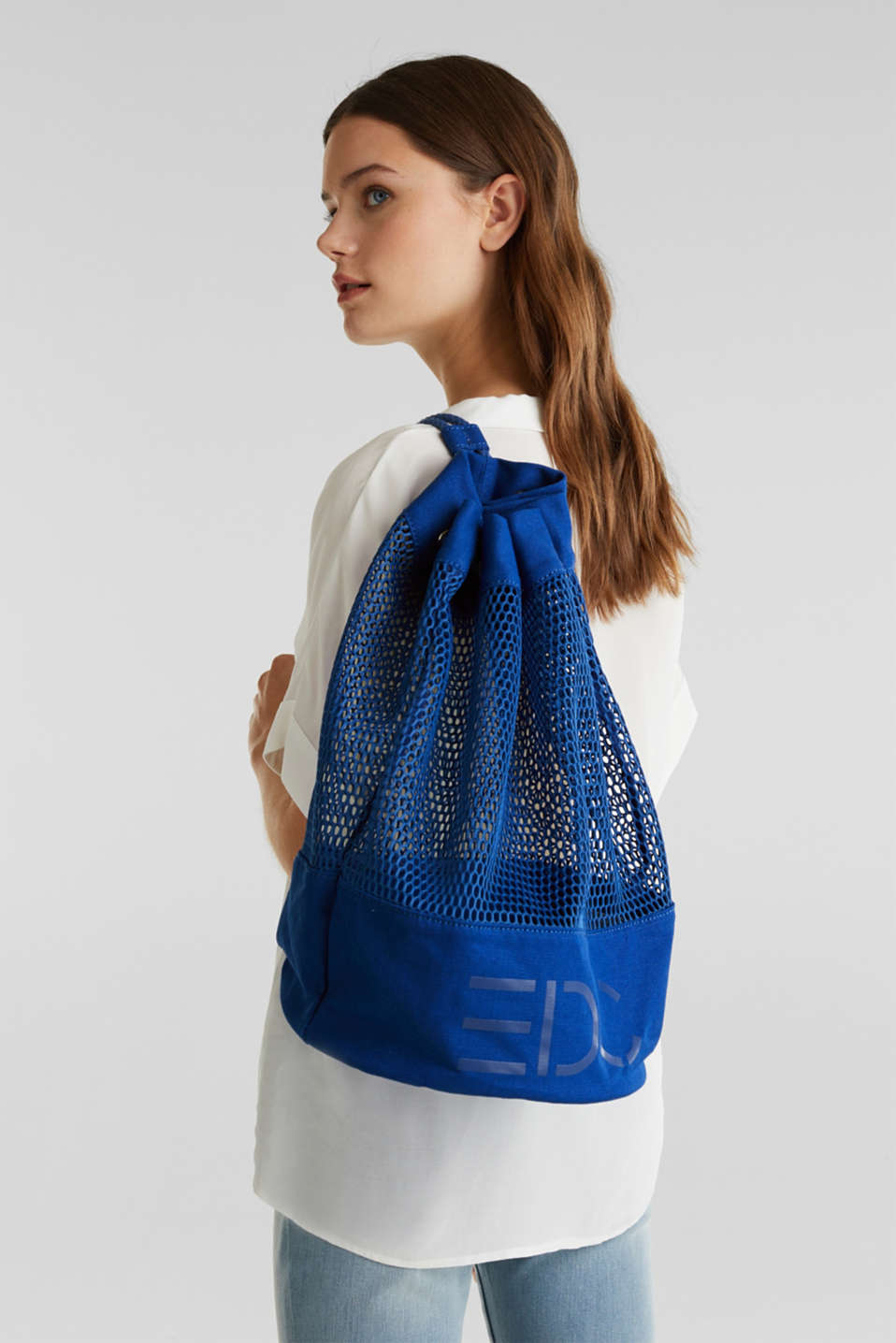 Airy mesh bag, BRIGHT BLUE, detail image number 1