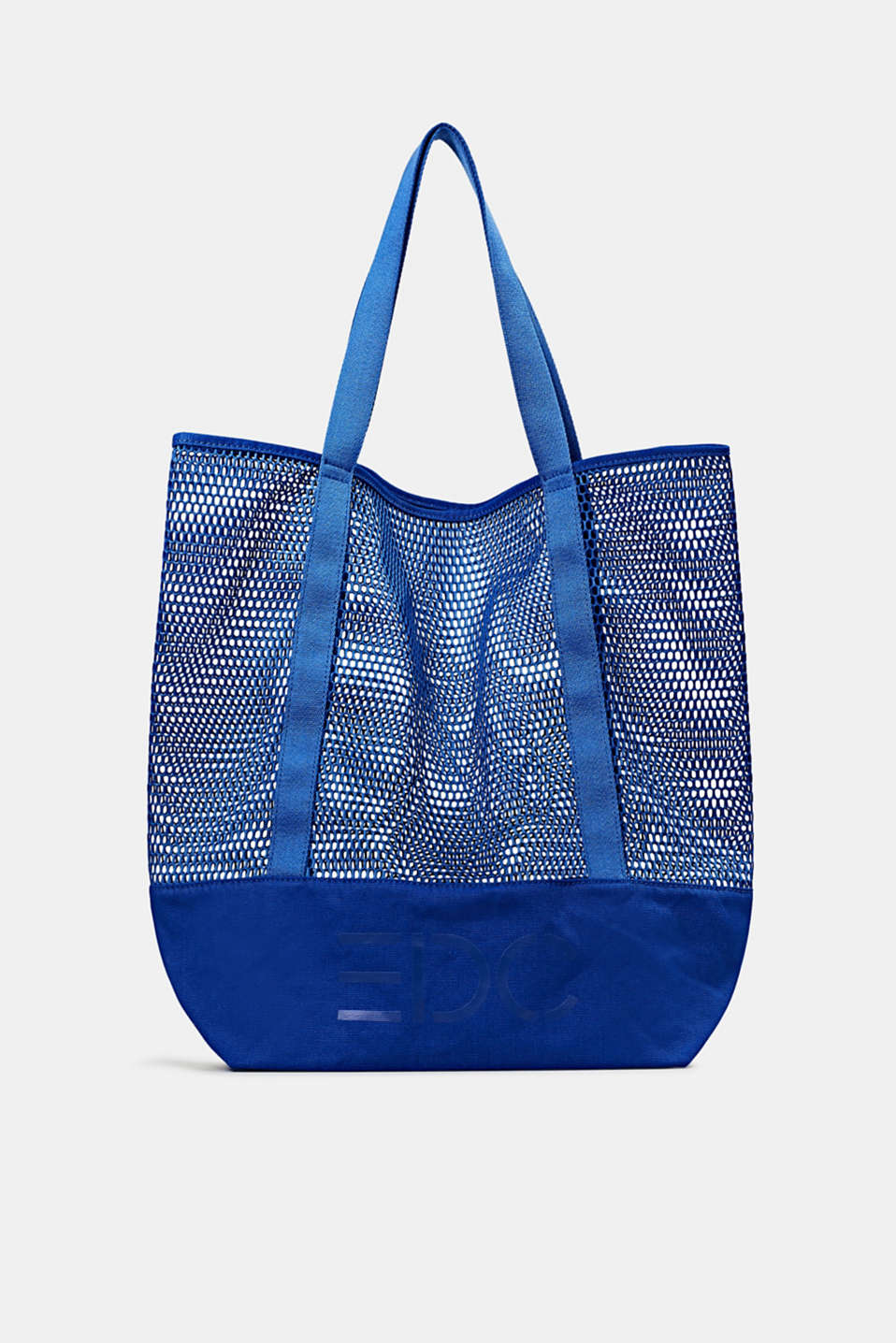 Mesh logo shopper, BRIGHT BLUE, detail image number 0
