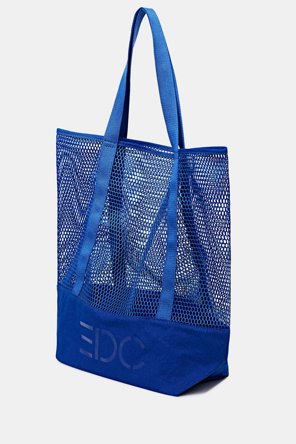 Mesh logo shopper, BRIGHT BLUE, detail image number 2