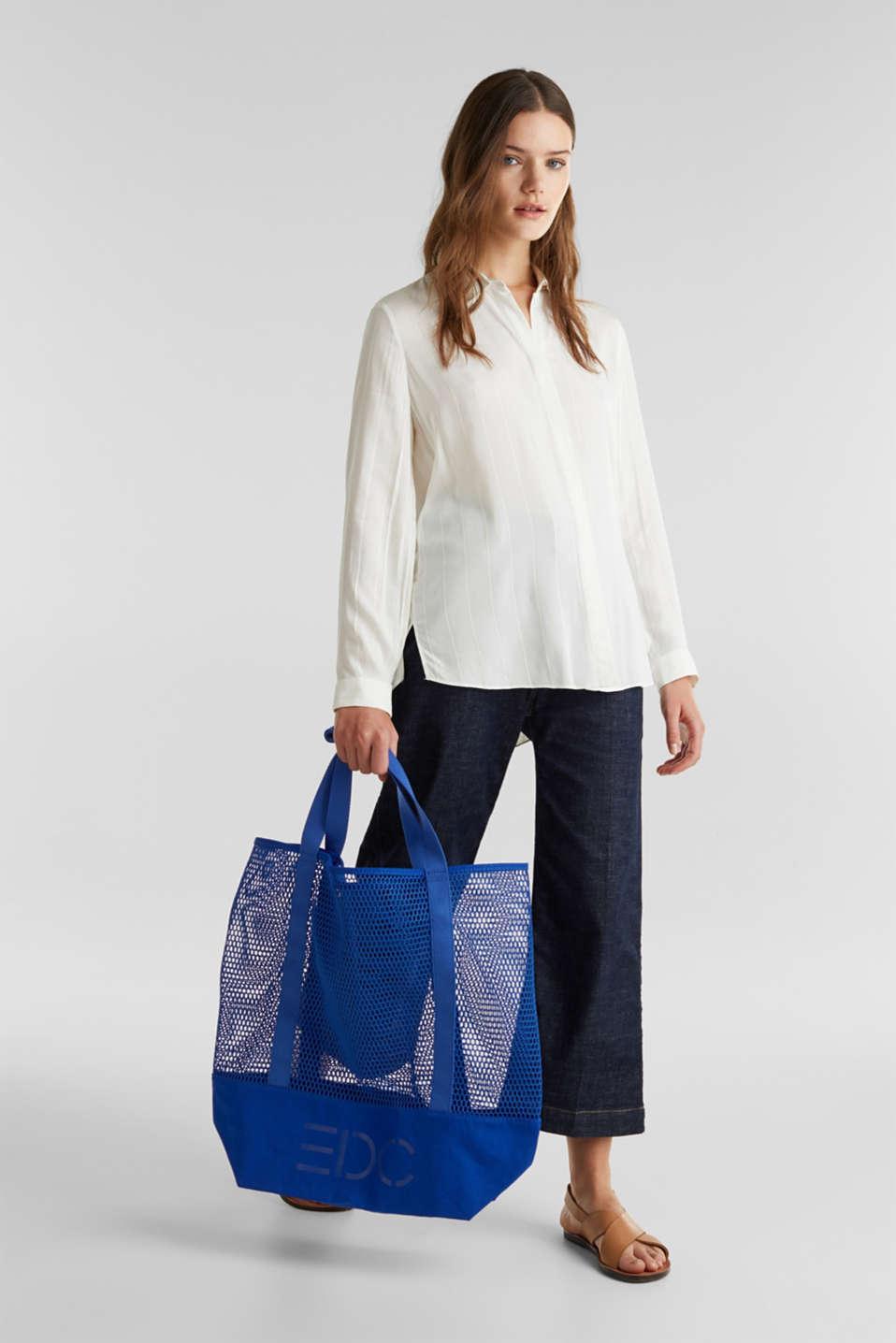 Mesh logo shopper, BRIGHT BLUE, detail image number 4