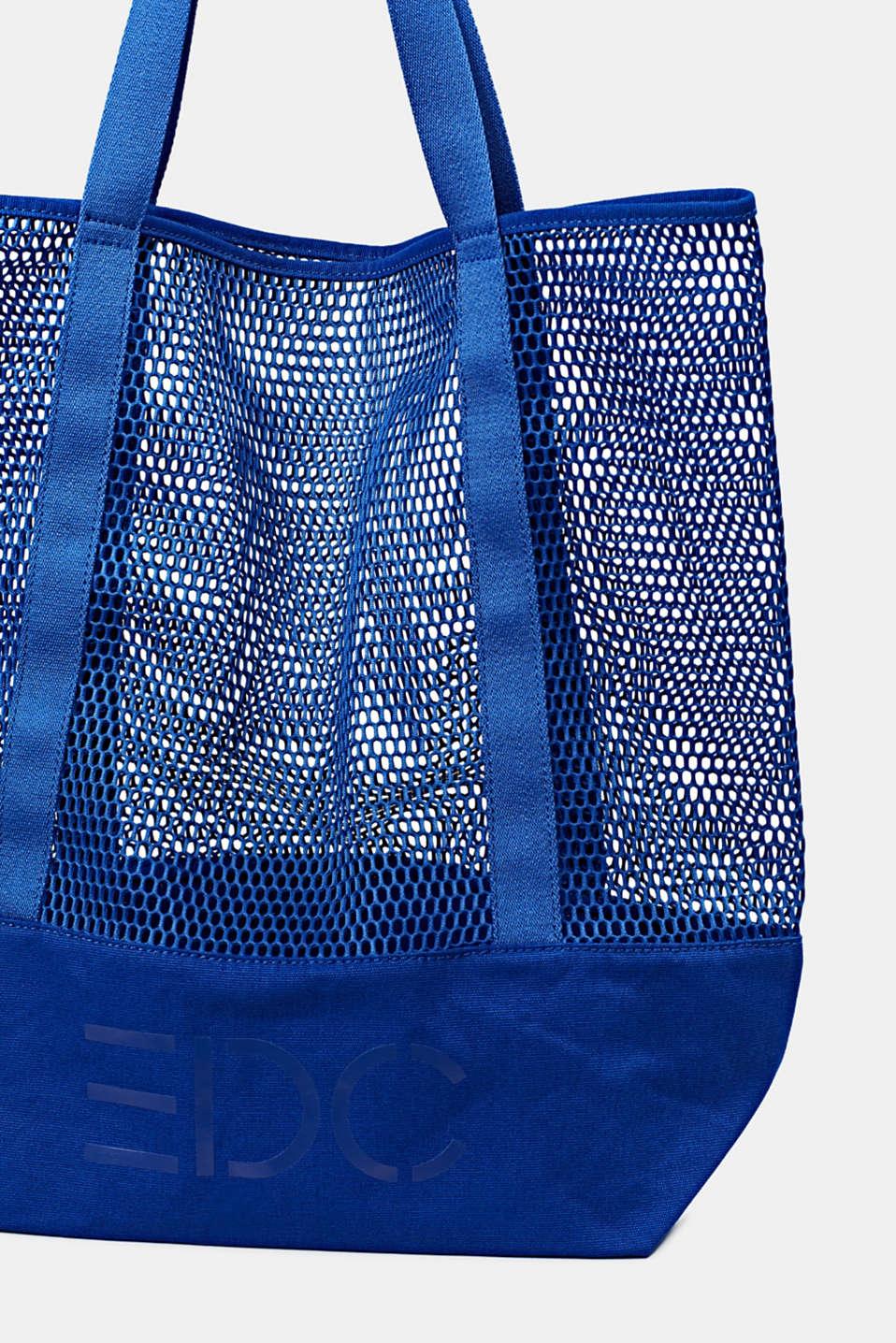 Mesh logo shopper, BRIGHT BLUE, detail image number 3