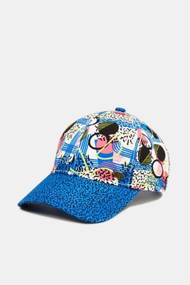 Print cap made of 100% cotton, BLUE, detail