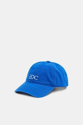 Baseball cap with an embroidered logo, 100% cotton, BLUE, detail