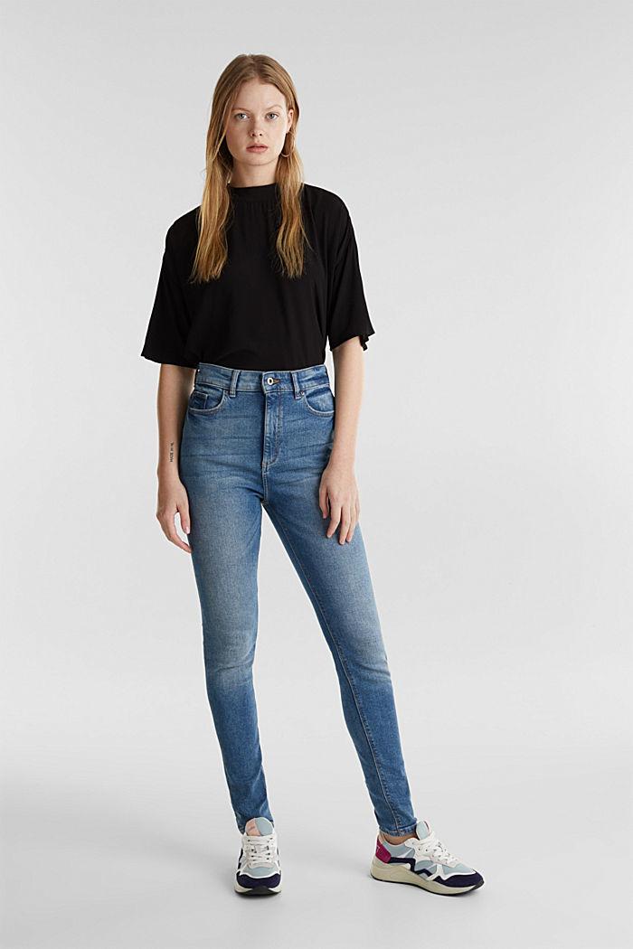 Jeans mit extra-hohem Bund, BLUE MEDIUM WASHED, detail image number 0