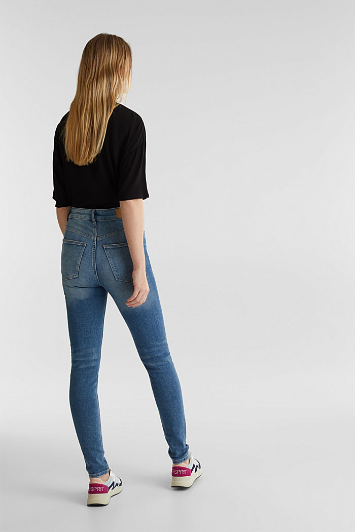 Jeans mit extra-hohem Bund, BLUE MEDIUM WASHED, detail image number 3