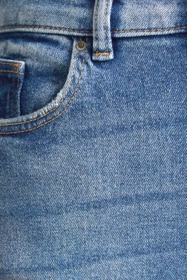 Jeans with an extra high rise waistband, BLUE MEDIUM WASH, detail
