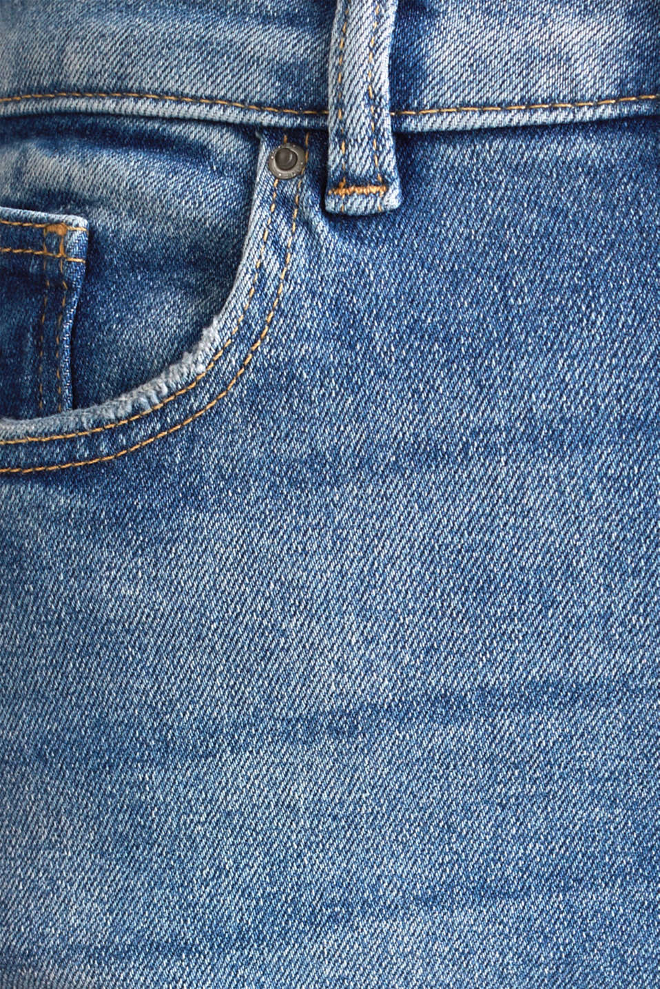 Jeans with an extra high rise waistband, BLUE MEDIUM WASH, detail image number 4