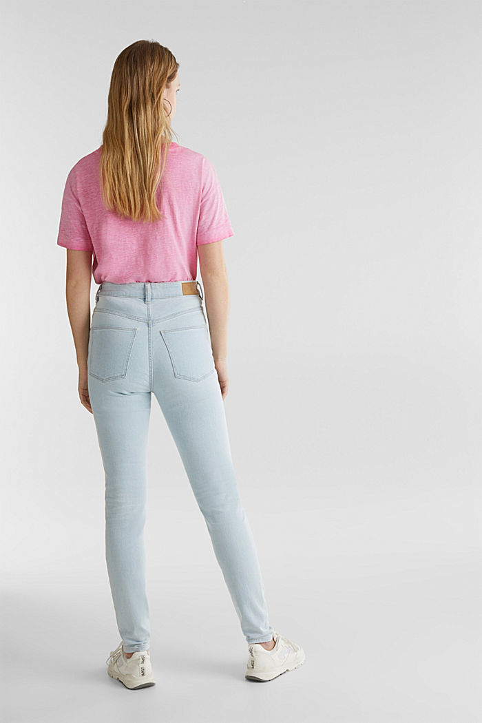 Jeans mit extra-hohem Bund, BLUE BLEACHED, detail image number 3