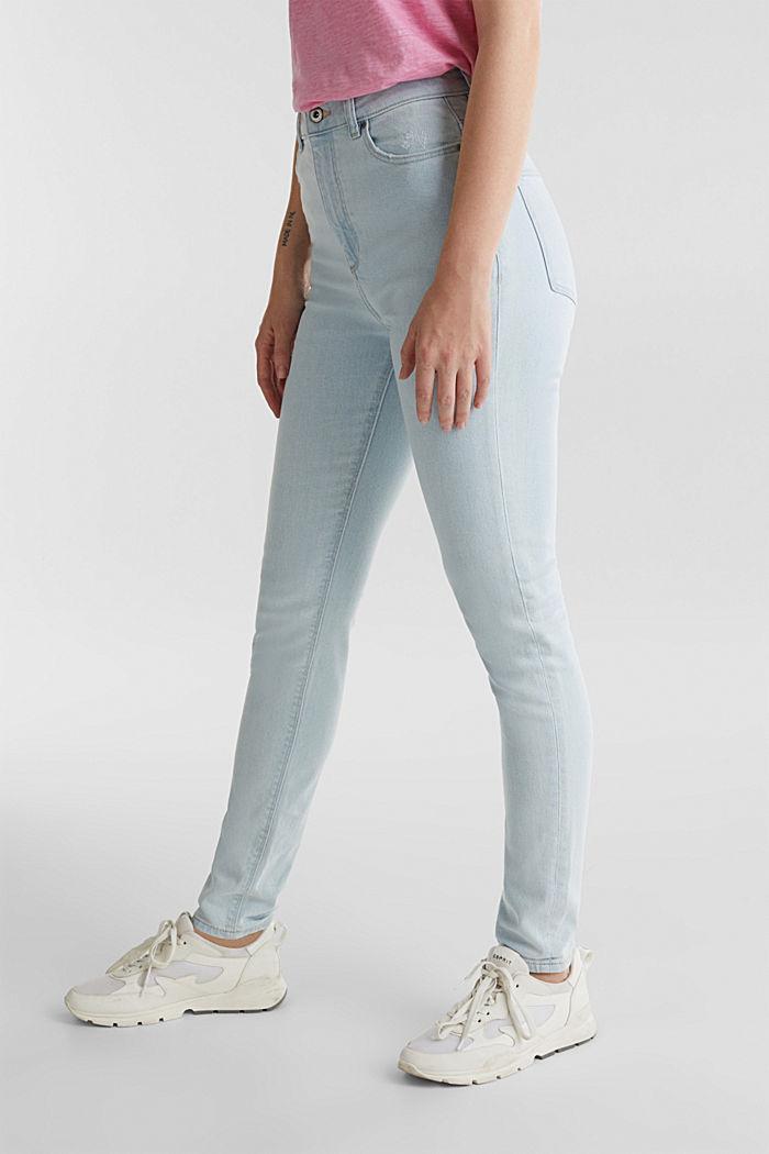 Jeans mit extra-hohem Bund, BLUE BLEACHED, detail image number 6