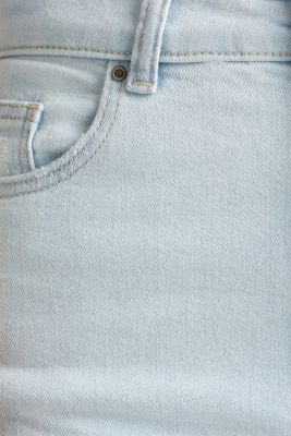 Jeans with an extra high rise waistband, BLUE BLEACHED, detail