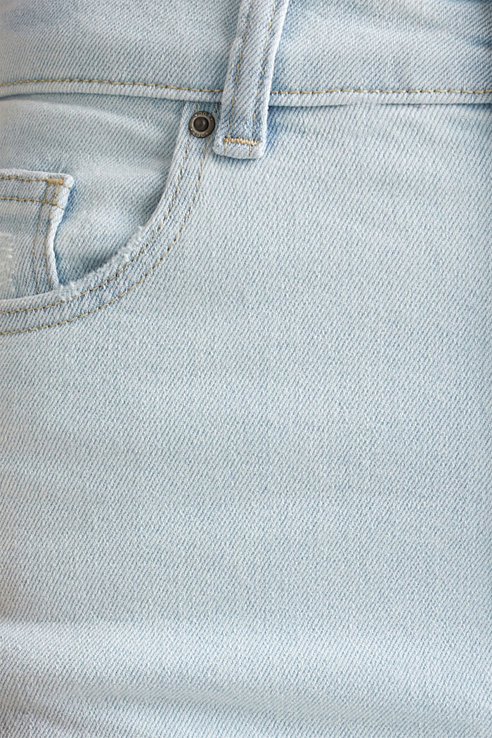 Jeans con vita molto alta, BLUE BLEACHED, detail image number 4