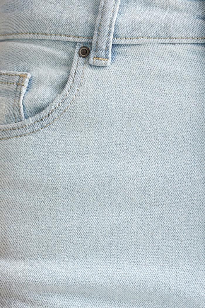 Jeans mit extra-hohem Bund, BLUE BLEACHED, detail image number 4