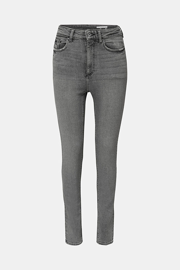 Basic jeans with an extra high rise waistband