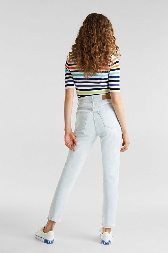 Bleached jeans met knoopgulp, BLUE BLEACHED, detail image number 3