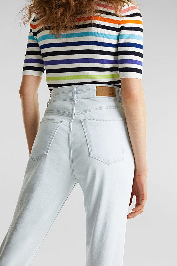 Bleached jeans met knoopgulp, BLUE BLEACHED, detail image number 5