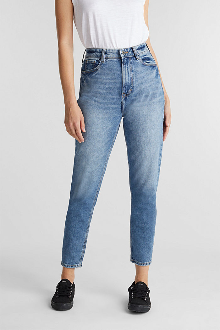 Jeans with a garment-washed effect, BLUE MEDIUM WASHED, detail image number 0