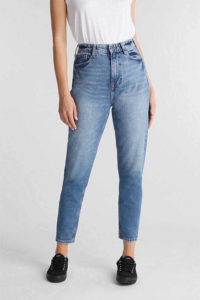 Jeans im Washed-Look, BLUE MEDIUM WASHED, detail image number 1