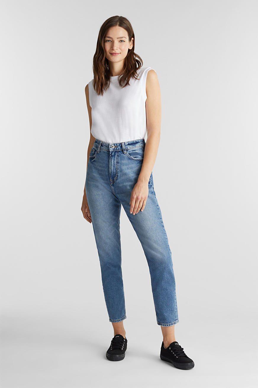 Jeans met garment-washed look