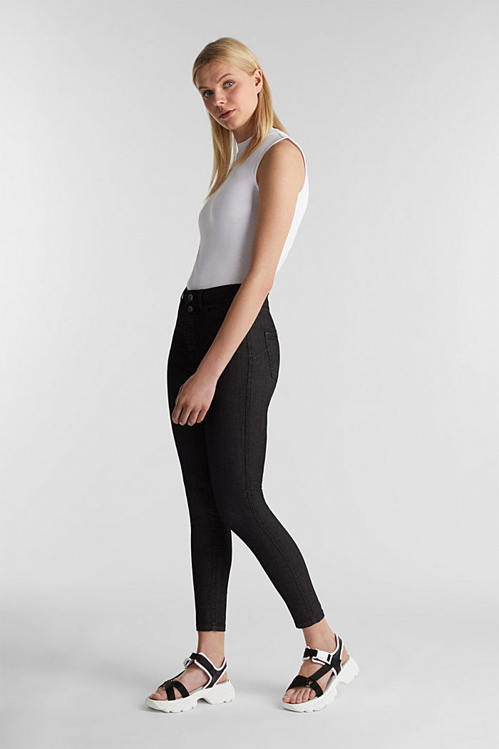 Knöchellange Stretch-Pants, BLACK, detail image number 1