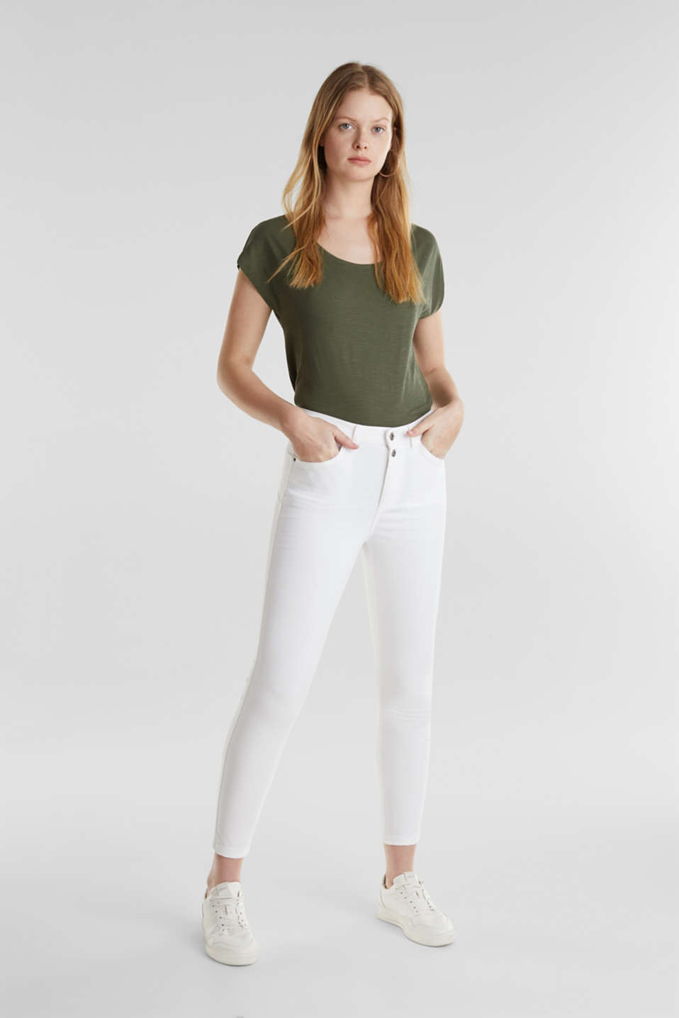 edc - Ankle-length stretch trousers