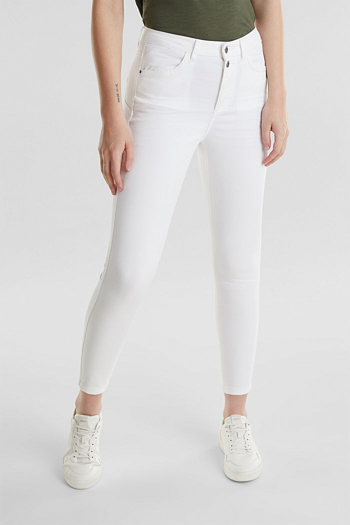Knöchellange Stretch-Pants, WHITE, detail image number 6