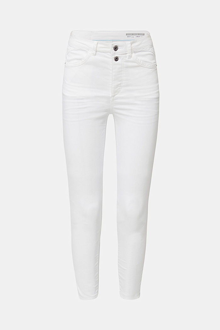 Knöchellange Stretch-Pants, WHITE, detail image number 7