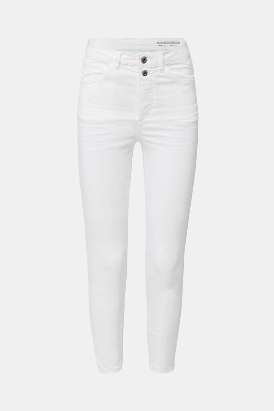 Ankle-length stretch trousers, WHITE, detail image number 7