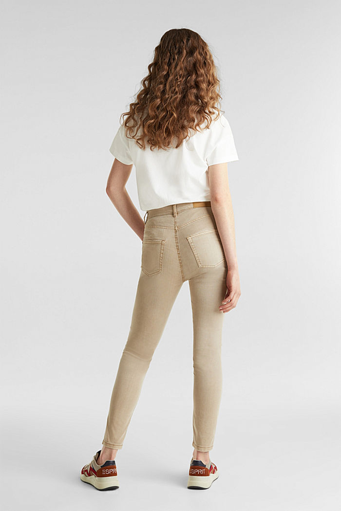 Knöchellange Stretch-Pants, KHAKI BEIGE, detail image number 3