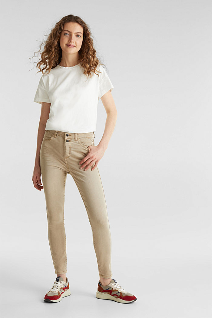 Knöchellange Stretch-Pants, KHAKI BEIGE, detail image number 6