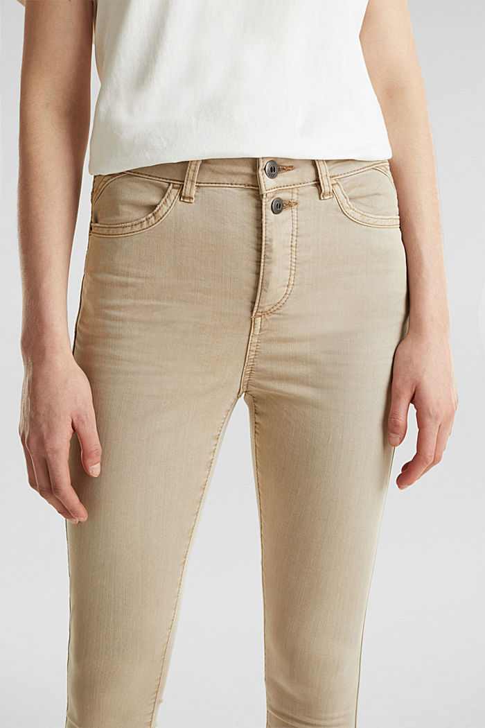 Knöchellange Stretch-Pants, KHAKI BEIGE, detail image number 2