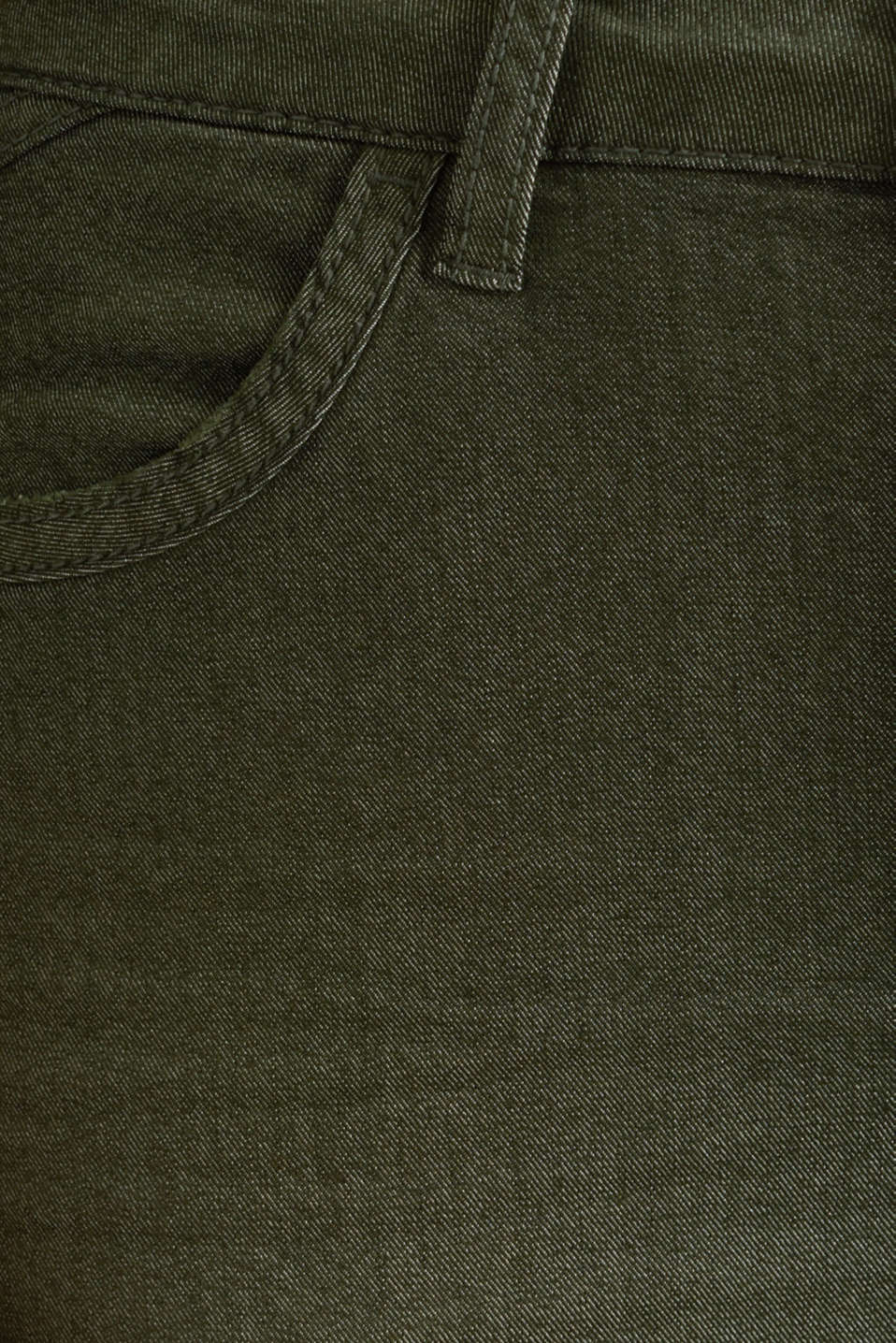 Ankle-length stretch trousers, KHAKI GREEN, detail image number 4