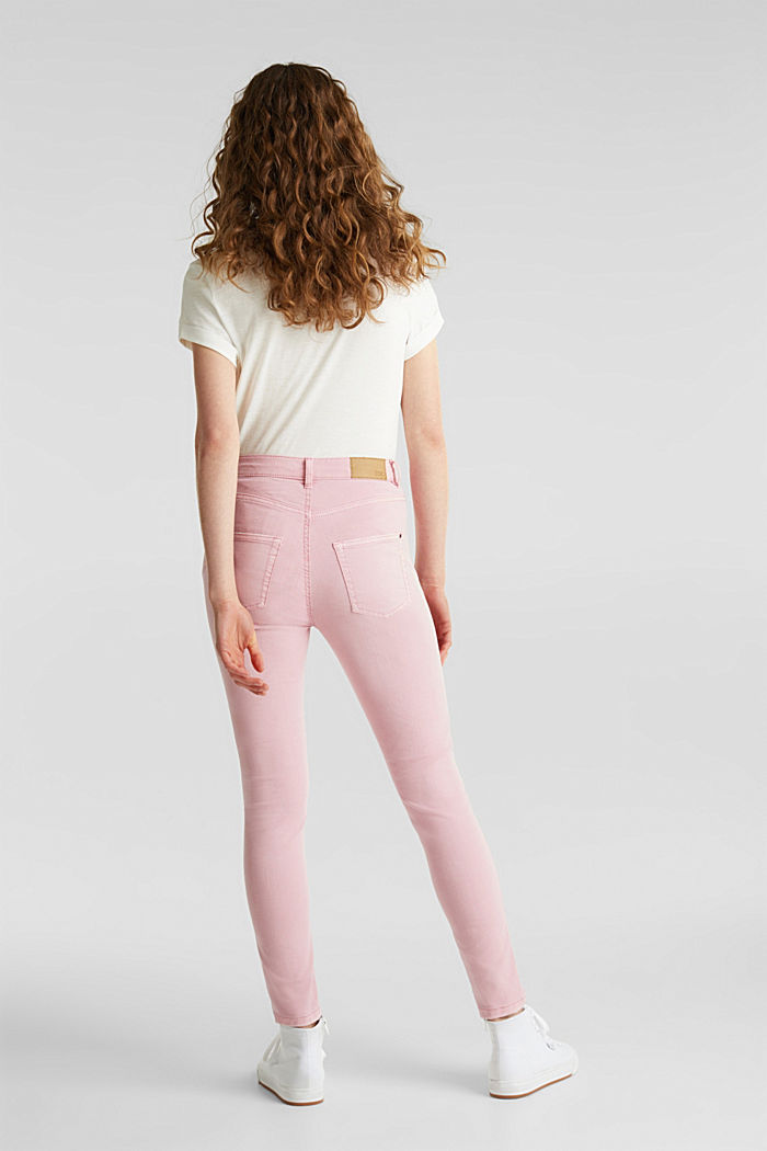 Ankle-length stretch trousers, PINK, detail image number 3