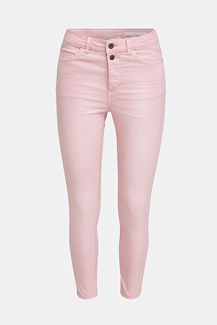 Ankle-length stretch trousers, PINK, detail image number 6
