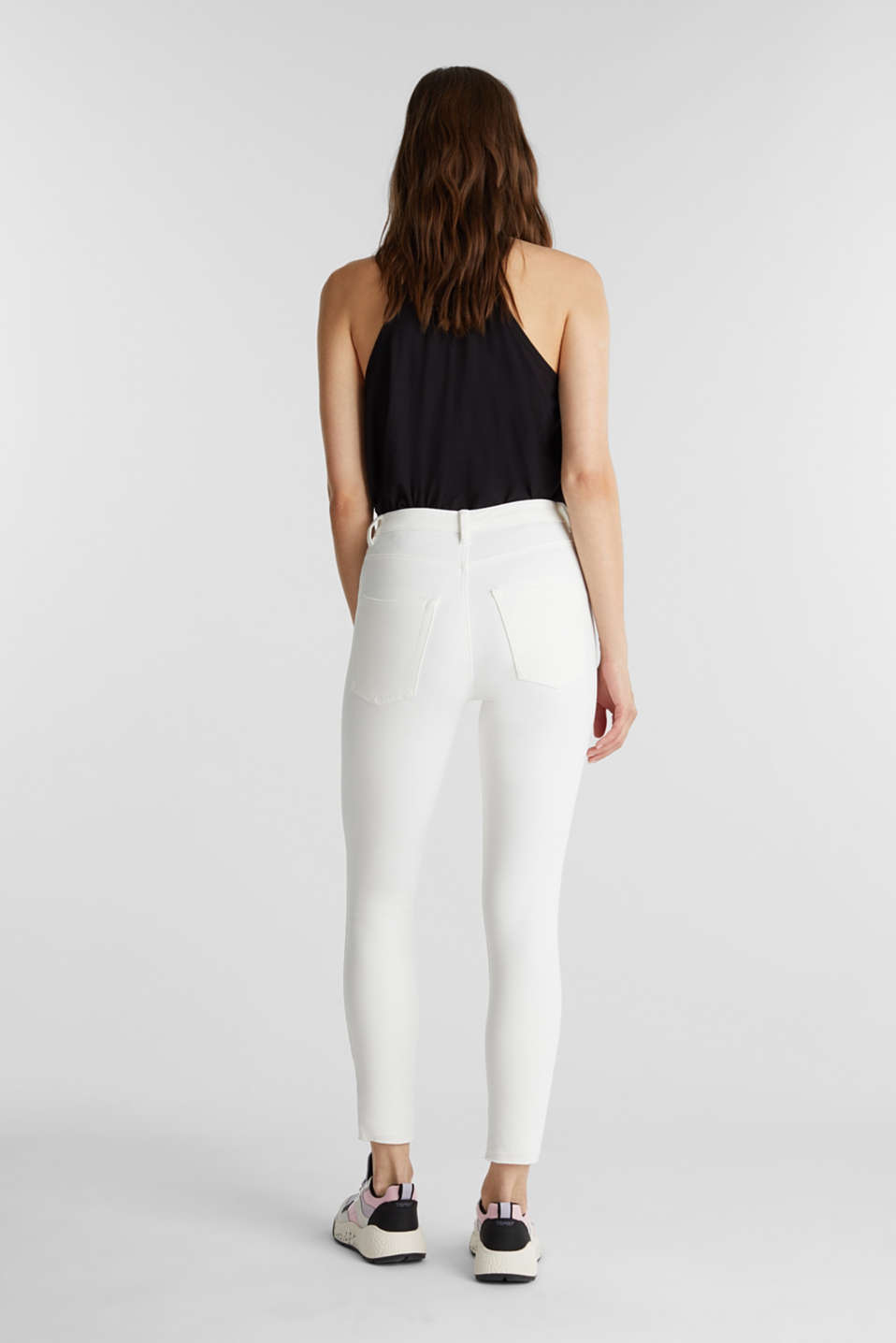 Ankle-length jeans with vintage hems, WHITE, detail image number 3