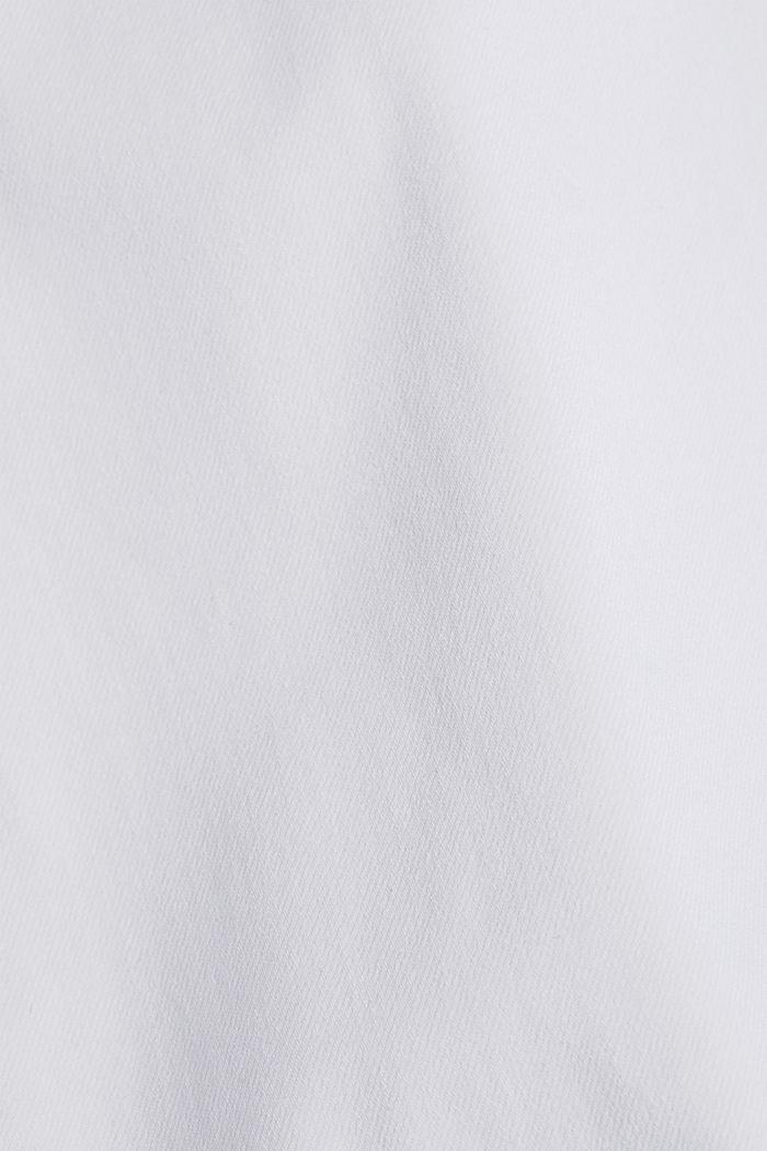 Vaqueros tobilleros con los bajos en estilo vintage, WHITE, detail image number 4