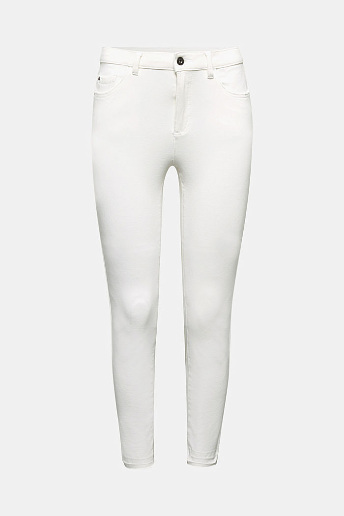 Ankle-length jeans with vintage hems