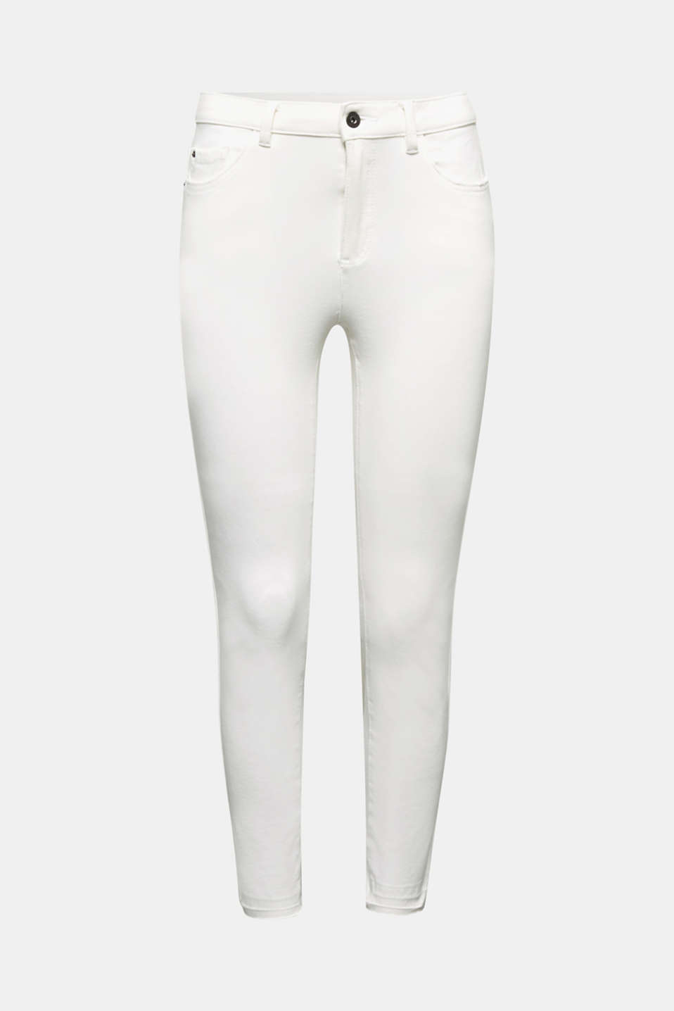 Ankle-length jeans with vintage hems, WHITE, detail image number 6