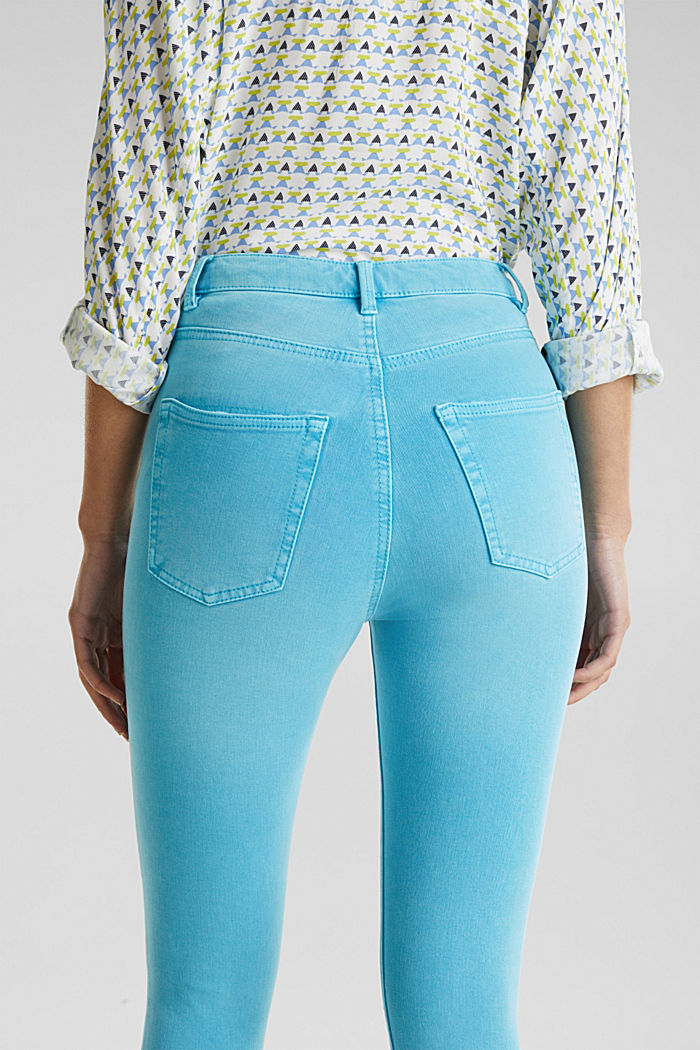Ankle-length jeans with vintage hems, TURQUOISE, detail image number 5