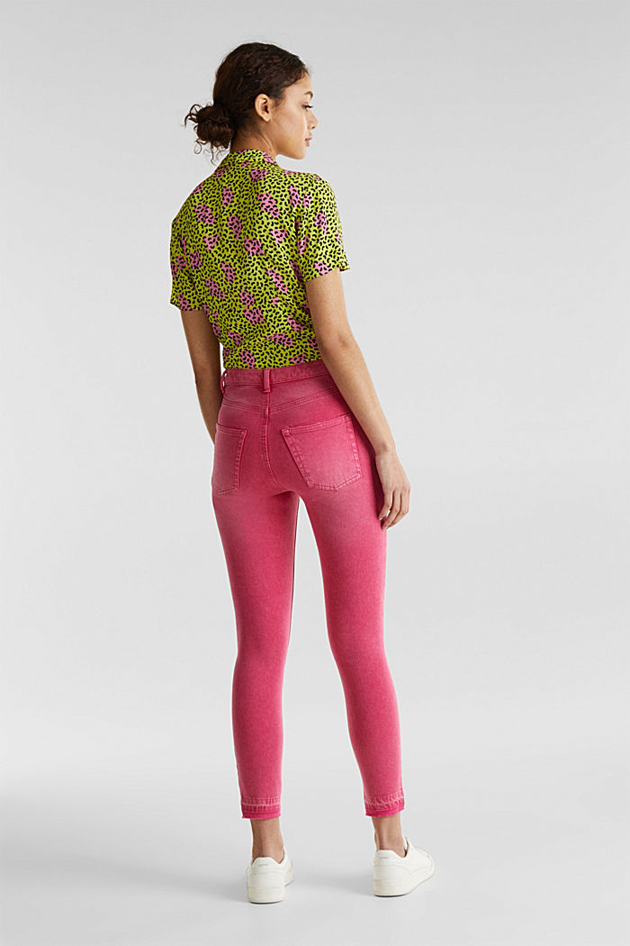 Ankle-length jeans with vintage hems, PINK FUCHSIA, detail image number 3