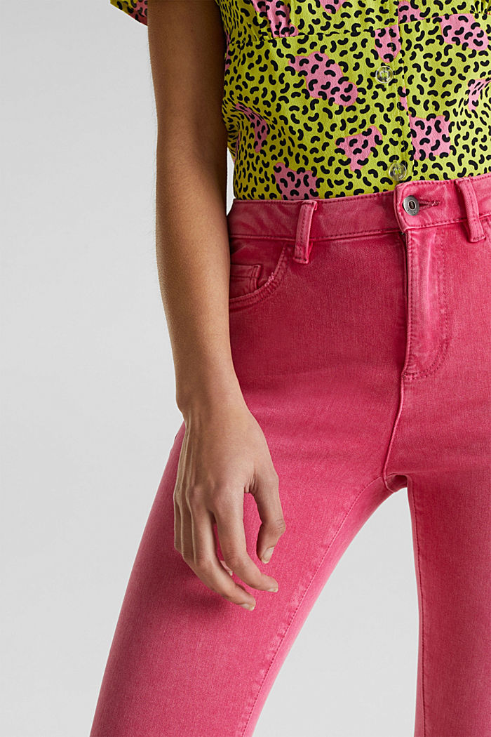 Ankle-length jeans with vintage hems, PINK FUCHSIA, detail image number 2