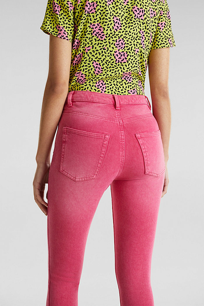 Ankle-length jeans with vintage hems, PINK FUCHSIA, detail image number 5