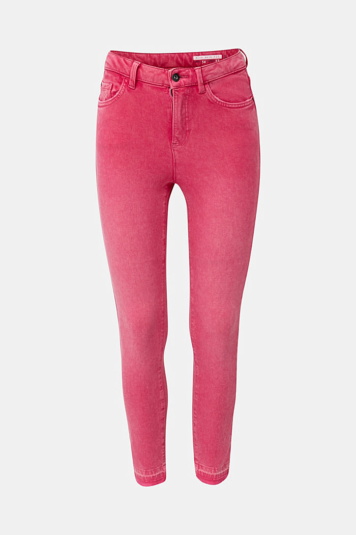 Ankle-length jeans with vintage hems, PINK FUCHSIA, detail image number 6