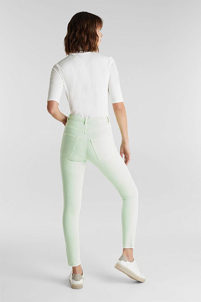 Knöchellange Jeans mit Vintage-Säumen, LIME YELLOW, detail image number 3